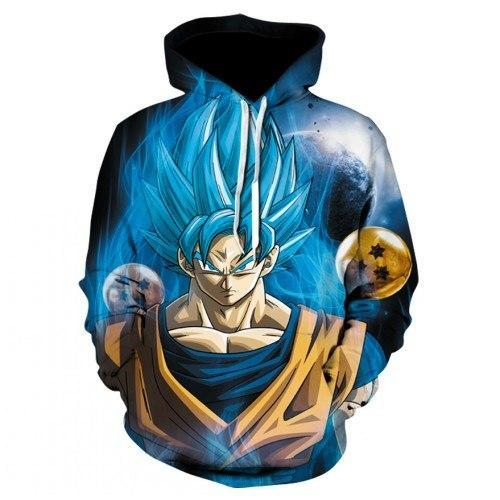 New Hoodies Super Saiyan Red Goku Fighting together Hoodies Pullovers Men Womendresskily-dresskily