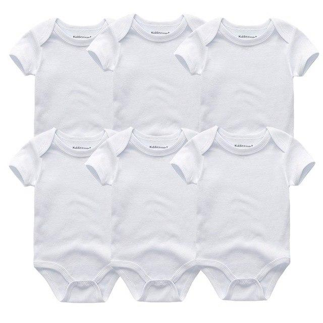 6PCS/Set Newborn Baby Rompers Boy Playsuit Clothes 100% Cotton Striped Cute Jumpsuitdresskily-dresskily