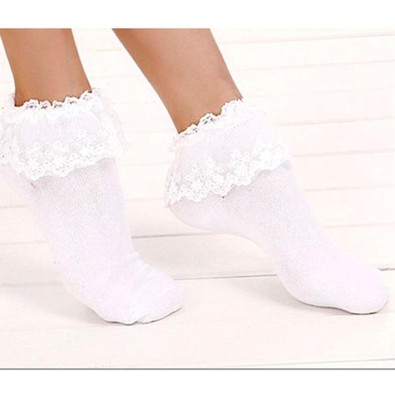 Vintage Lace Ruffle Frilly Ankle Socks Fashion Ladies Princess Girl Black/White dresskily-dresskily