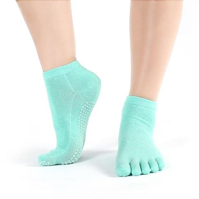New Hot Sale Womens Meias Cotton Colorful Sokkens Non Slip Massage Toedresskily-dresskily