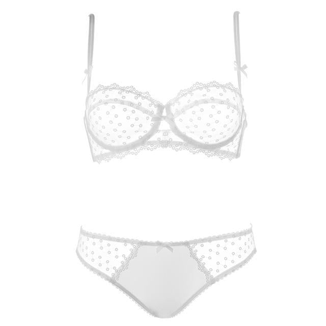 ultra-thin lace bra set Elegan Women Underwear set Seamless bra briefdresskily-dresskily