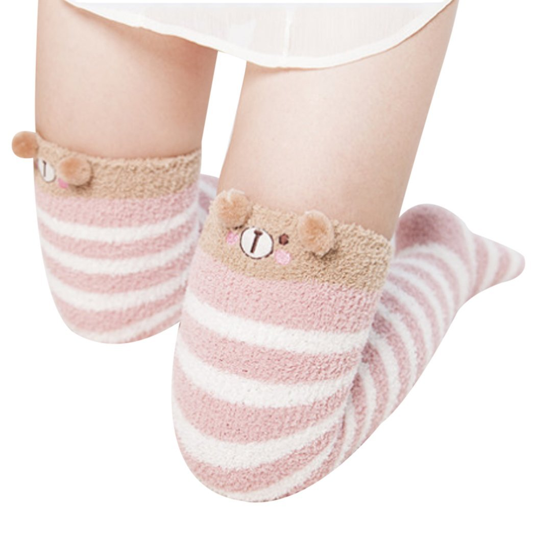 Cute Girl Animal Modeling Socks Sweet Lovely Women Thick Velvet Warm Softdresskily-dresskily