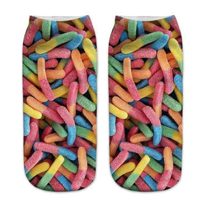 Doughnut Happy Socks 2018 New Food And Fruit Print 3D Socks Womendresskily-dresskily