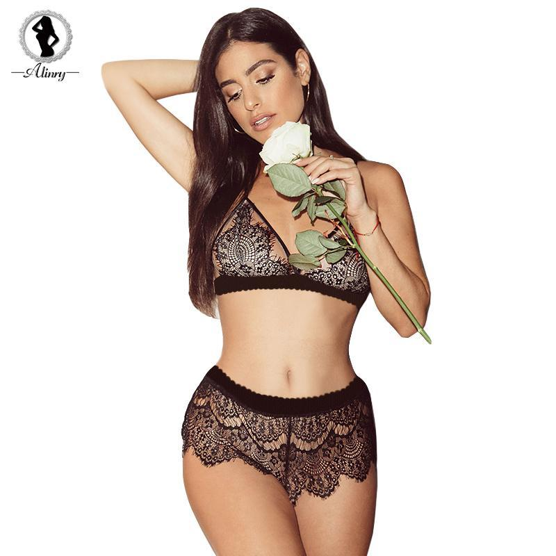 sexy lace bra set women hollow transparent push up lingerie bralettedresskily-dresskily