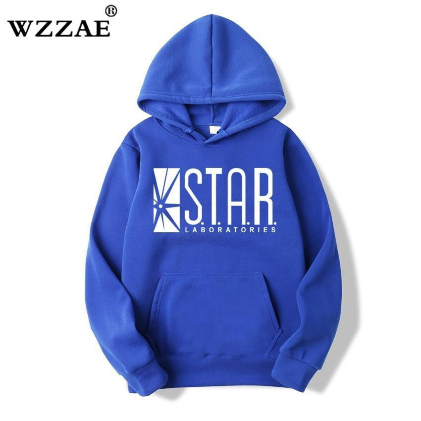 STAR Labs Black Men's Hooded Hoodies Men Sweatshirt Jumper the Flashdresskily-dresskily