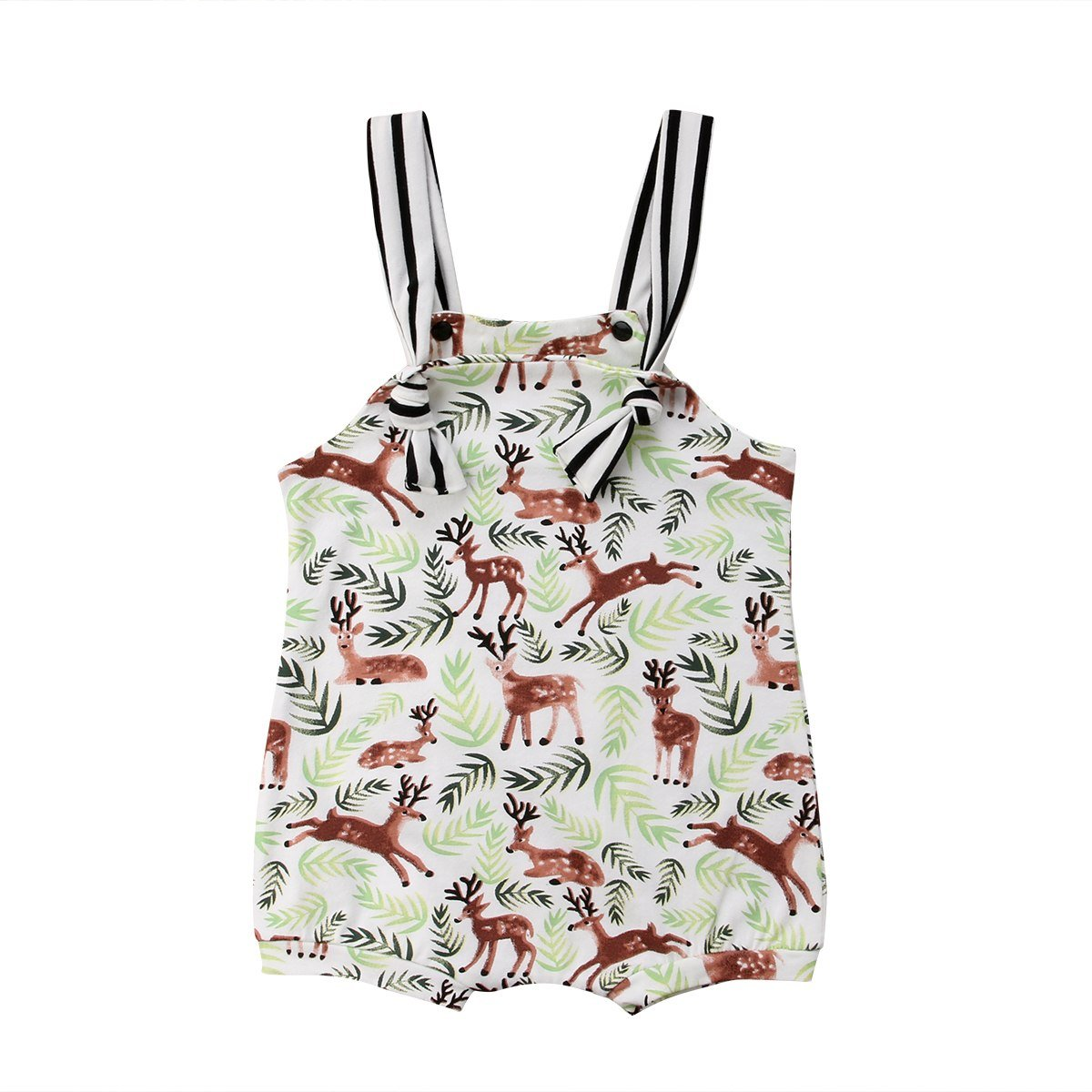 Newborn Baby Boy Girls Deer Kids Romper Jumpsuit Infant Clothes Outfitsdresskily-dresskily