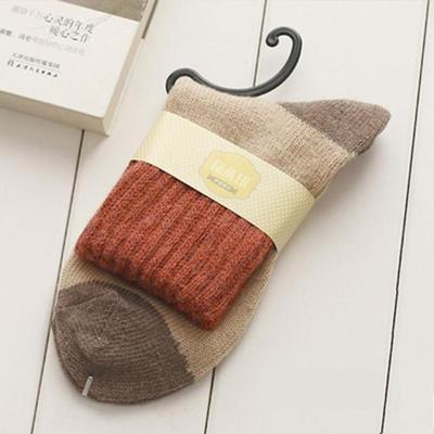 Retro Thickening Women Socks Autumn Winter Rabbit Wool Patchwork Socks Female Newdresskily-dresskily