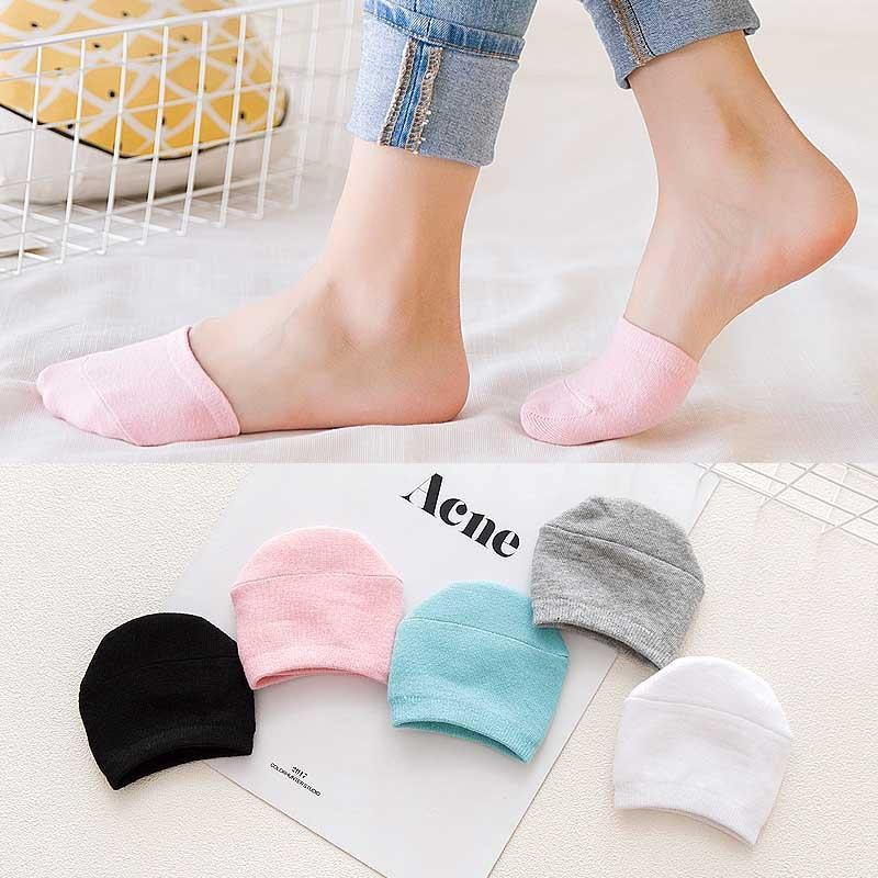 5 Pairs Korea Women Half Foot Toe Cover Socks Black Invisible Funnydresskily-dresskily