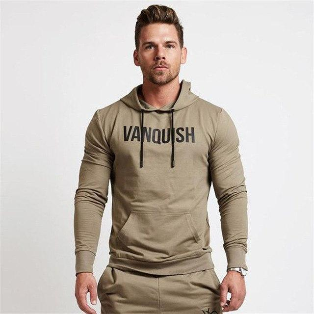 Fall new men cotton sweatshirt gyms Fitness bodybuilding Hoodies Casual fashiondresskily-dresskily
