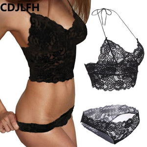 Sexy Lingerie Sets Women Transpar Bra Set Lace Underwear Brand Transparent Pushdresskily-dresskily