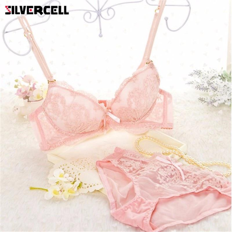 Women Sexy Lace Underwear Suit Bra Sets Chic Embroidery Lingerie Push Updresskily-dresskily