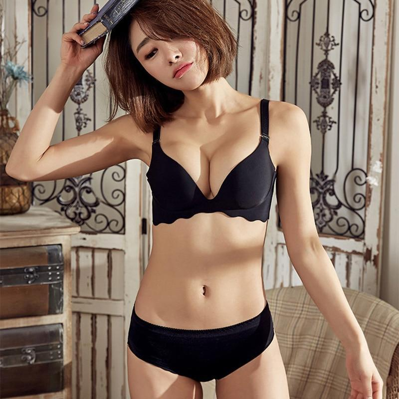 New Sexy Seamless Female Lingerie Set For Women Push Up Bra Anddresskily-dresskily