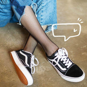 Women Socks Sexy Mesh Fishnet Erotic Long Stocking In The Network Kneedresskily-dresskily