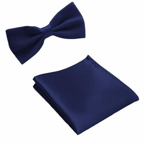 Neck Tie Set Bow Ties for Men Pocket square Wedding Polyester Butterflydresskily-dresskily