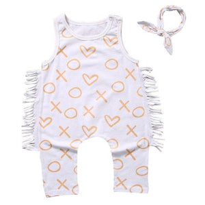Newborn Toddler Baby Girl Boy Print Romper Jumpsuit Clothes Outfit Sunsuit Setdresskily-dresskily