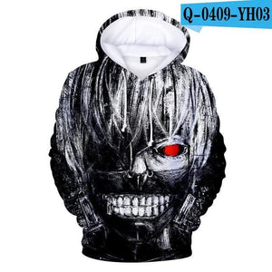 Tokyo Ghoul Hoodies 2017 New Fashion Funny Anime Hoodies and Sweatshirts 3ddresskily-dresskily