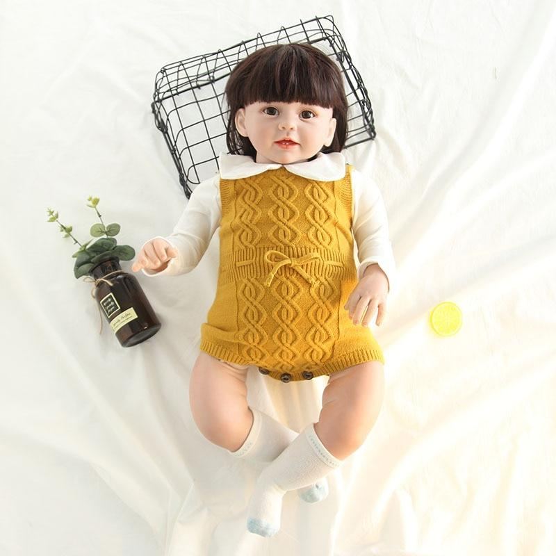 Newborn Baby Girls Sleeveless Knitted Romper Jumpsuit Outfits Clothes Toddler Adorable Babydresskily-dresskily