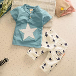summer baby boys clothing set infant fashion clothes suit t-shirt+pants outftisdresskily-dresskily