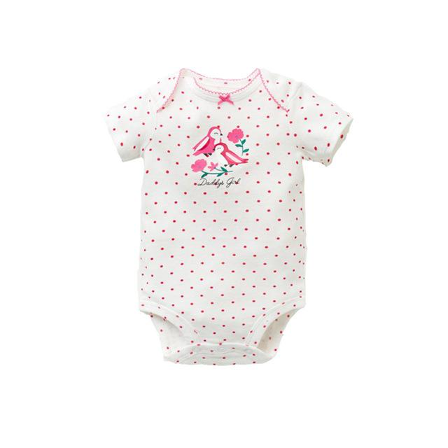 New Summer Baby Girls Clothes Short Sleeve Letter Printed Baby Bodysuit 100%dresskily-dresskily