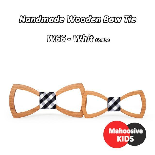 Mahoosive Father Kids Children bow tie Necktie Wood Tie Gravatas Corbatas Butterflydresskily-dresskily