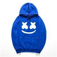2018 Autumn winter New brand marshmello face Hoodies men Casual Hoodies Sweatshirtdresskily-dresskily