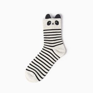 New autumn 12 colors women girl cotton socks Animal cartoon longdresskily-dresskily