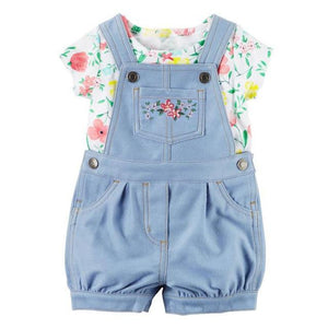 2017 bebes baby girl clothes sets newborn baby kids summer shorts clothingdresskily-dresskily