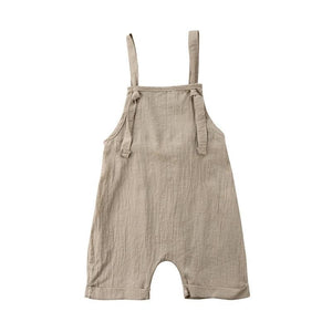 2018 UK Toddler Kids Boy Girl Bib Pants Romper Cotton Solid Backlessdresskily-dresskily