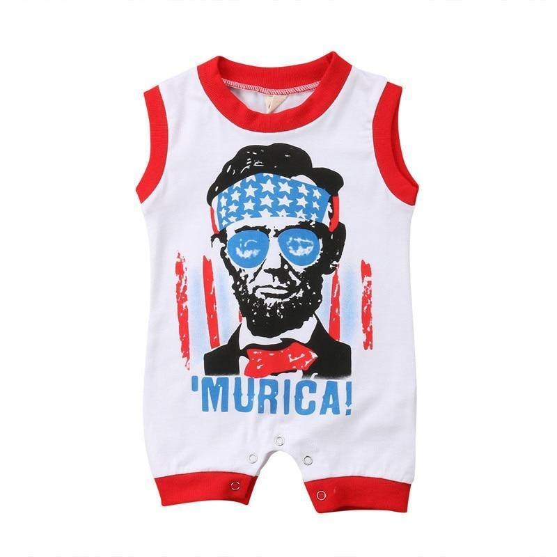 2018 Brand New Fourth Of July Summer Toddler Baby Boys Casual Handsomedresskily-dresskily