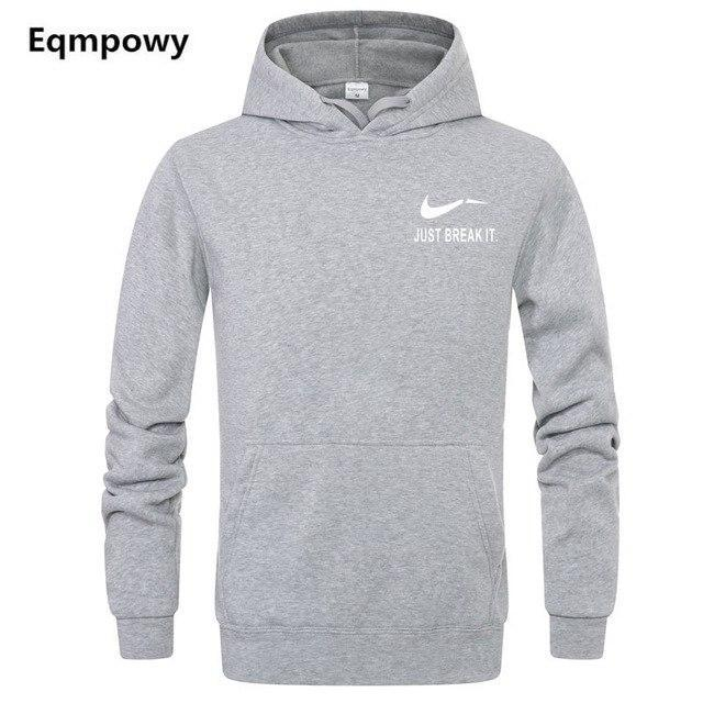 2018 Autumn Winter Casual brand Long sleeved men hooded JUST BREAKdresskily-dresskily
