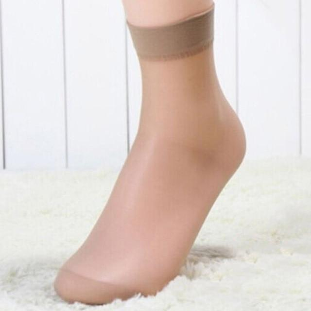 1 Pair Summer Sexy Ultrathin Transparent Crystal Silk Socks for Women Highdresskily-dresskily