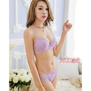 2018 New Hot Pop Bra Set Transparent Lace Bra & Briefdresskily-dresskily