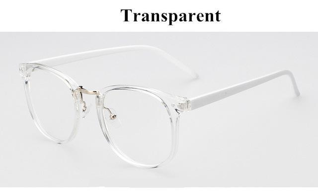 Newest Oversize Glasses Frames Metal Leg Vintage Eyeglasses Frame Women Men Fakedresskily-dresskily