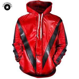 3d Hoodies Men Women Michael Jackson Thriller Jacket Printing Sweatshirt Hooded Streetweardresskily-dresskily