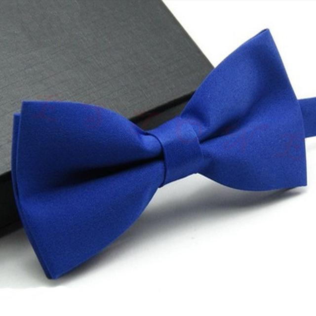 Newest Formal commercial bow tie male solid color marriage bow ties fordresskily-dresskily