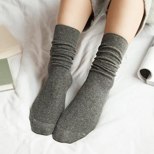 1Pair Warm Women Socks solid color Autumn Winter Christmas Winter Socks Fordresskily-dresskily