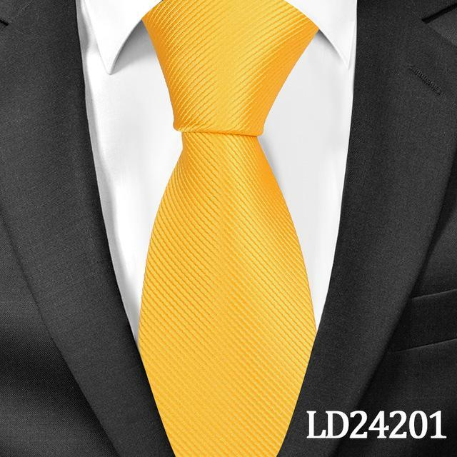 New Classic Solid Ties for Men Fashion Casual Neck Tie Gravatas Businessdresskily-dresskily