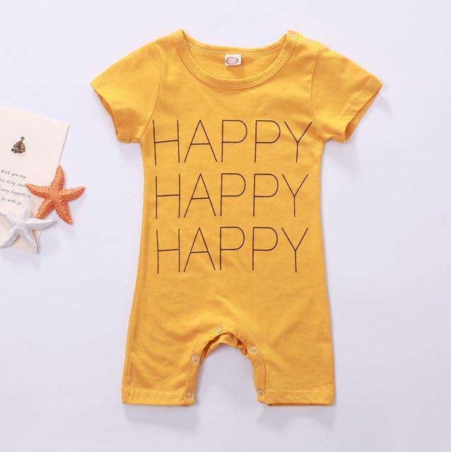 Baby Rompers Newborn Baby Boy Clothes Cartoon Short Sleeve Baby Clothing Roupadresskily-dresskily