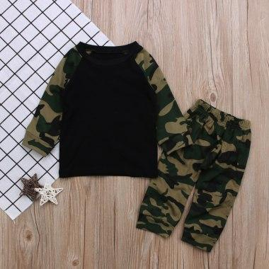 Army Camouflage Baby Girls Set Long Sleeve Tops Newborn Baby Suit Boysdresskily-dresskily
