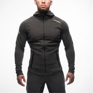 2018 NEW Men Hoodies Brand casual hoodie hombre coat Bodybuilding and fitnessdresskily-dresskily