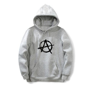 New Funny Printed Harajuku Hoodies Men Anarchy Symbol Sweatshirt Male Punk Rockdresskily-dresskily