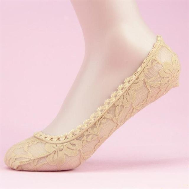 2018 Fashion Womens Lace Socks Elastic Comfy Female Summer Spring Ankledresskily-dresskily