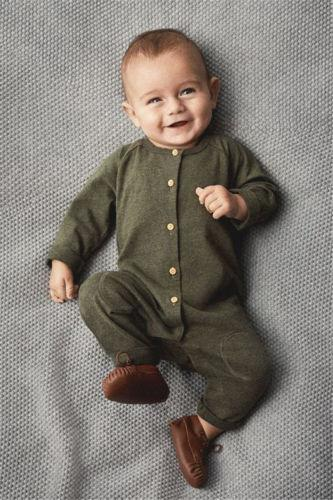 Green Newborn Kids Baby Boys Long Sleeve Button Romper Jumpsuit Playsuit Outfitdresskily-dresskily
