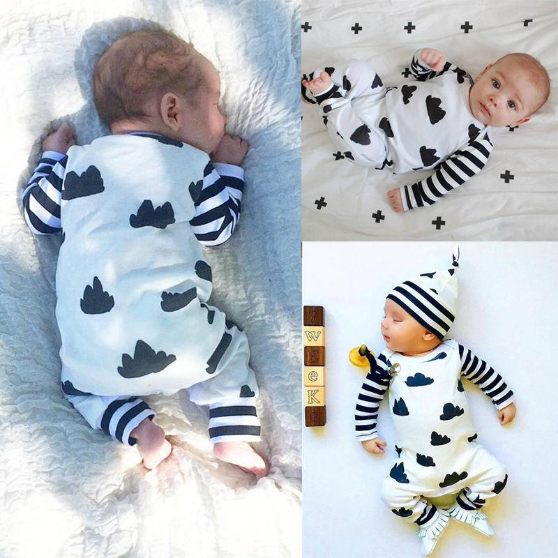 016 Spring Autumn toddler Newborn Baby Clothes Cotton Boy Girl Infant Cloudsdresskily-dresskily