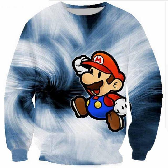 2018 Men 3D Sweatshirt Men Super Mario Game 3D Anime Printdresskily-dresskily