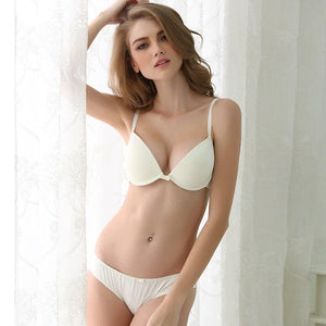 2018 HOT Sexy Underwear women's Solid color bralette Smooth bra setdresskily-dresskily
