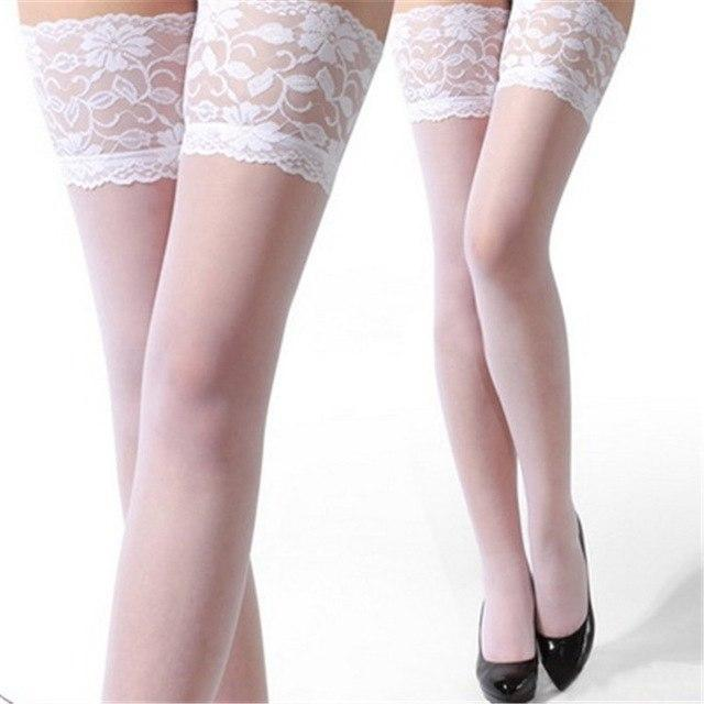 Women's Sexy Stockings Lace Pattern Thin Cool Four Colors Plus Largedresskily-dresskily