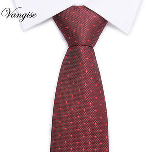 30Colors Fashion Slim Man Ties For Men Polyester Silk Necktie Printing plaiddresskily-dresskily
