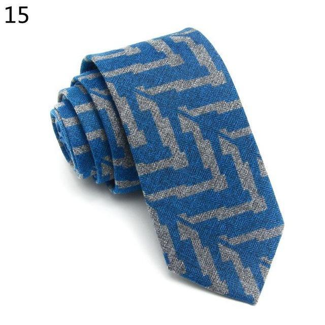 Wool Tie Skinny 6 cm Floral Necktie High Fashion Plaid Tiesdresskily-dresskily