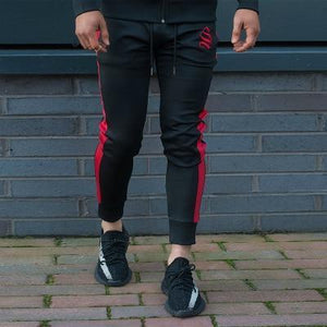 Men's Workout Fitness Hooded Sweatshirt Gyms brand Tops 2018 Black and Reddresskily-dresskily